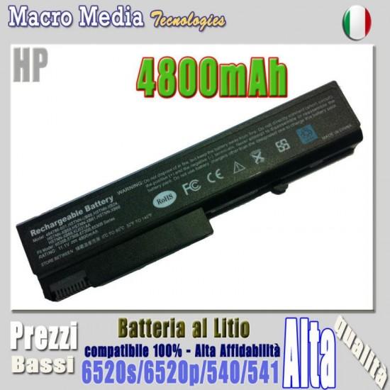 Batteria 4800mAh per HP Compaq 6500 6535B, 6730b, 6735b, 6530b