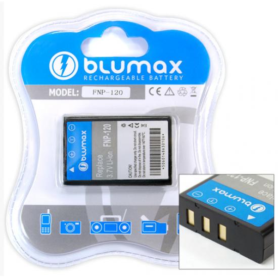 Blumax batteria compatibile per Fuji NP-120 1700 mAh