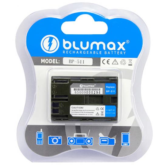 Blumax batteria per CANON BP-511 BP511 1600 mAh EOS 5D 20D 30D 40D D60 300D