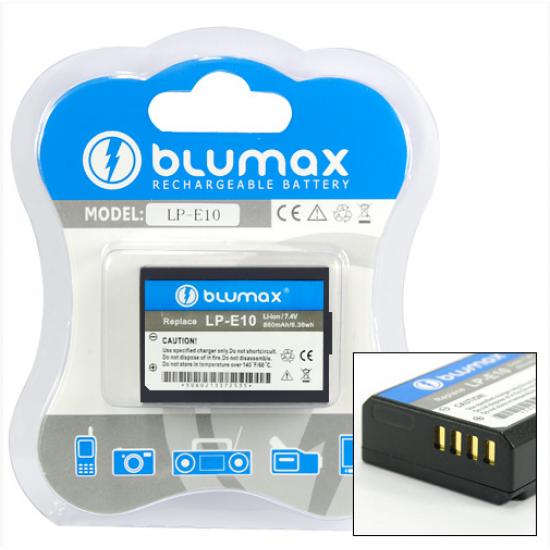 Blumax batteria per CANON LP-E10 LPE10 EOS 1100D, KISS X50, REBEL T3