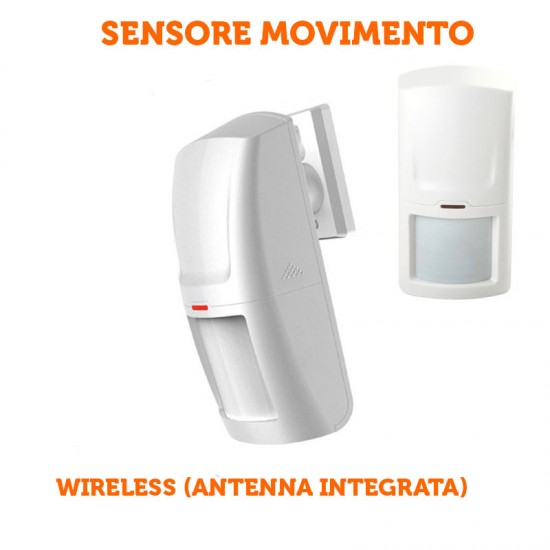 Sensore di movimento PIR volumetrico wireless allarme per allarme gsm