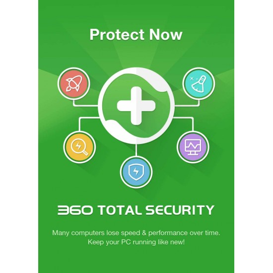360 Total Security Premium Antivirus Completo 5 computer 1 Anno ESD