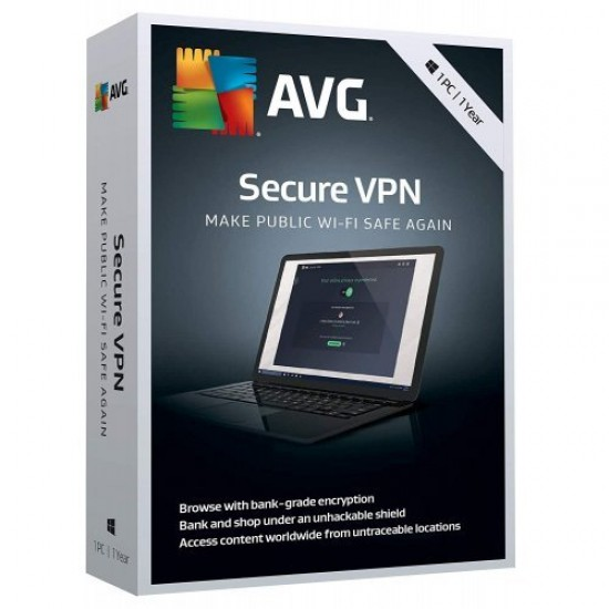 AVG Secure VPN 5 dispositivi PC Mac Android iOs 1 Anno ESD