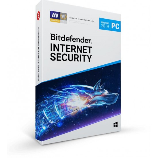 BitDefender Internet Security 2019 5 Computer PC 1 Anno ESD