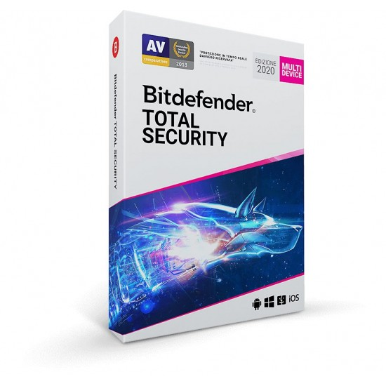 BitDefender Total Security 2020 3 PC Mac Android 1 Anno ESD