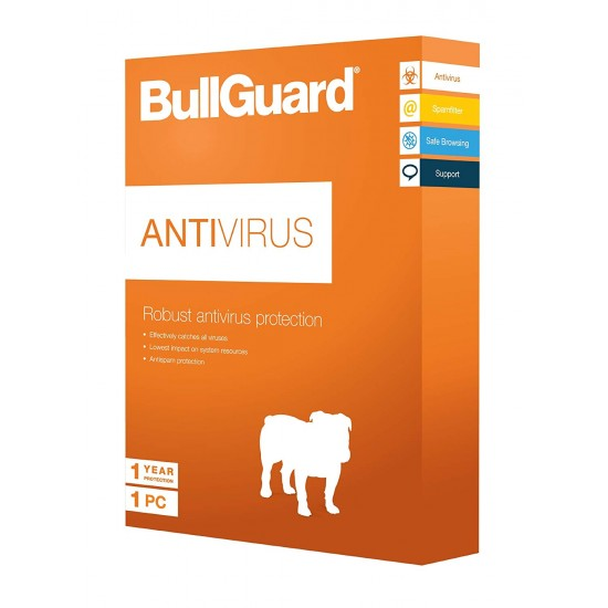 BullGuard AntiVirus  3 PC Windows 1 Anno Licenza ESD