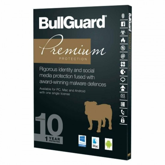 Bullguard Premium Protection 10 Dispositivi Win Mac Android 1 Anno Licenza ESD