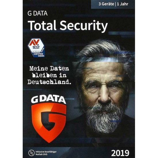 GData G-Data Total Security 3 PC Windows 1 Anno Invio ESD
