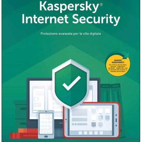 Kaspersky Internet Security 1 PC Win Mac Android 2 Anni ESD