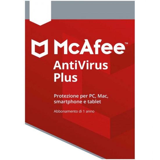 McAfee Antivirus Plus 2019 1 PC 1 Anno Licenza ESD