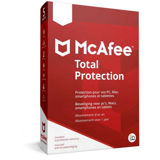 McAfee Total Protection  2019 5 PC 1 Anno Licenza ESD