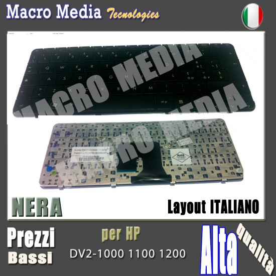 Tastiera Italiano Nera Per HP V100103AK1 DV2 DV2-1000, PAVILION DV2-1000EO, PAVILION DV2-1000EP